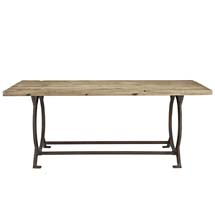 Effuse Wood Top Dining Table