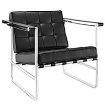 Serene Stainless Steel Lounge Chair