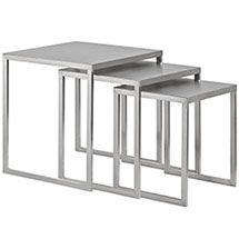 Rail Stainless Steel Nesting Table