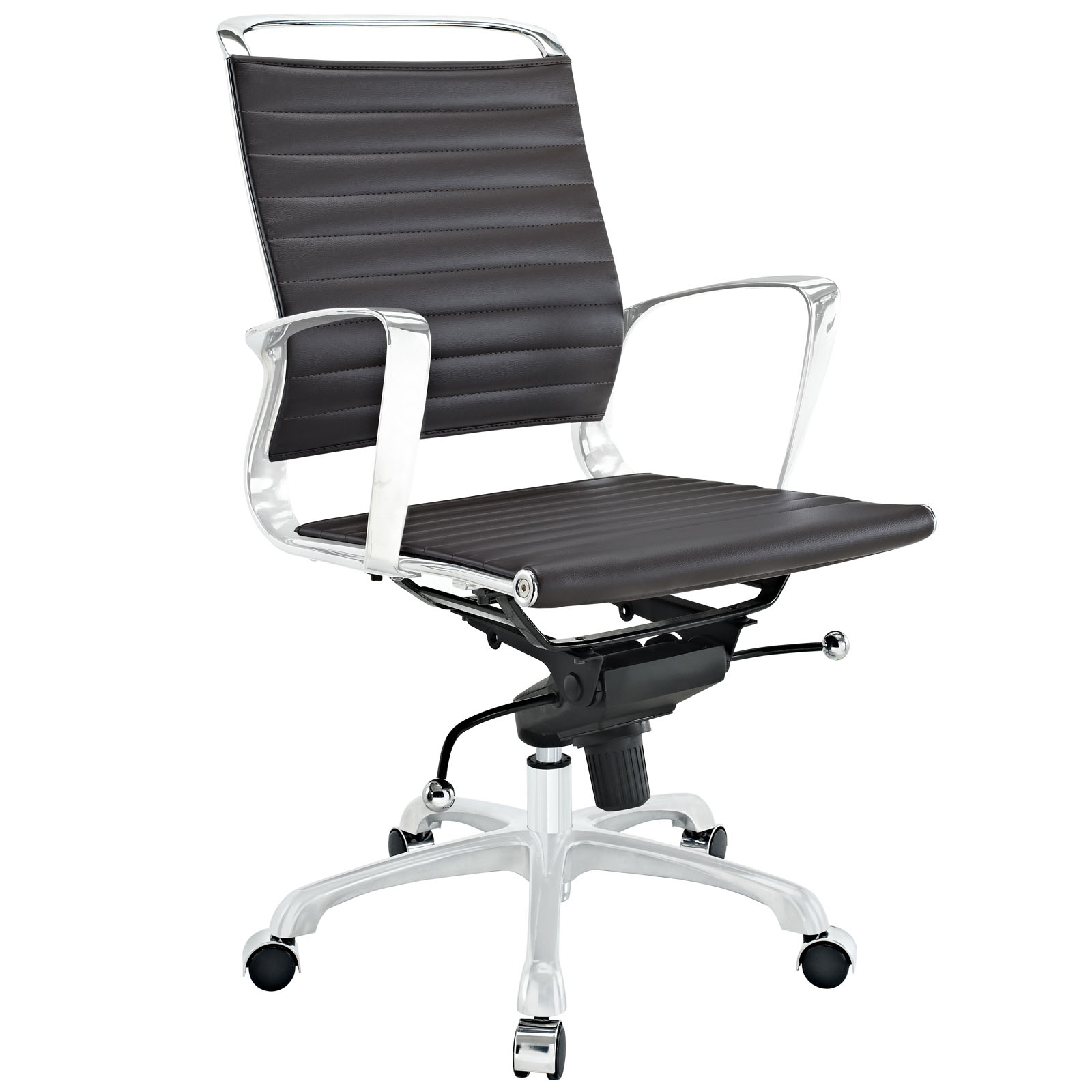 Tempo Mid Back Office Chair Brown EEI-1026-BRN