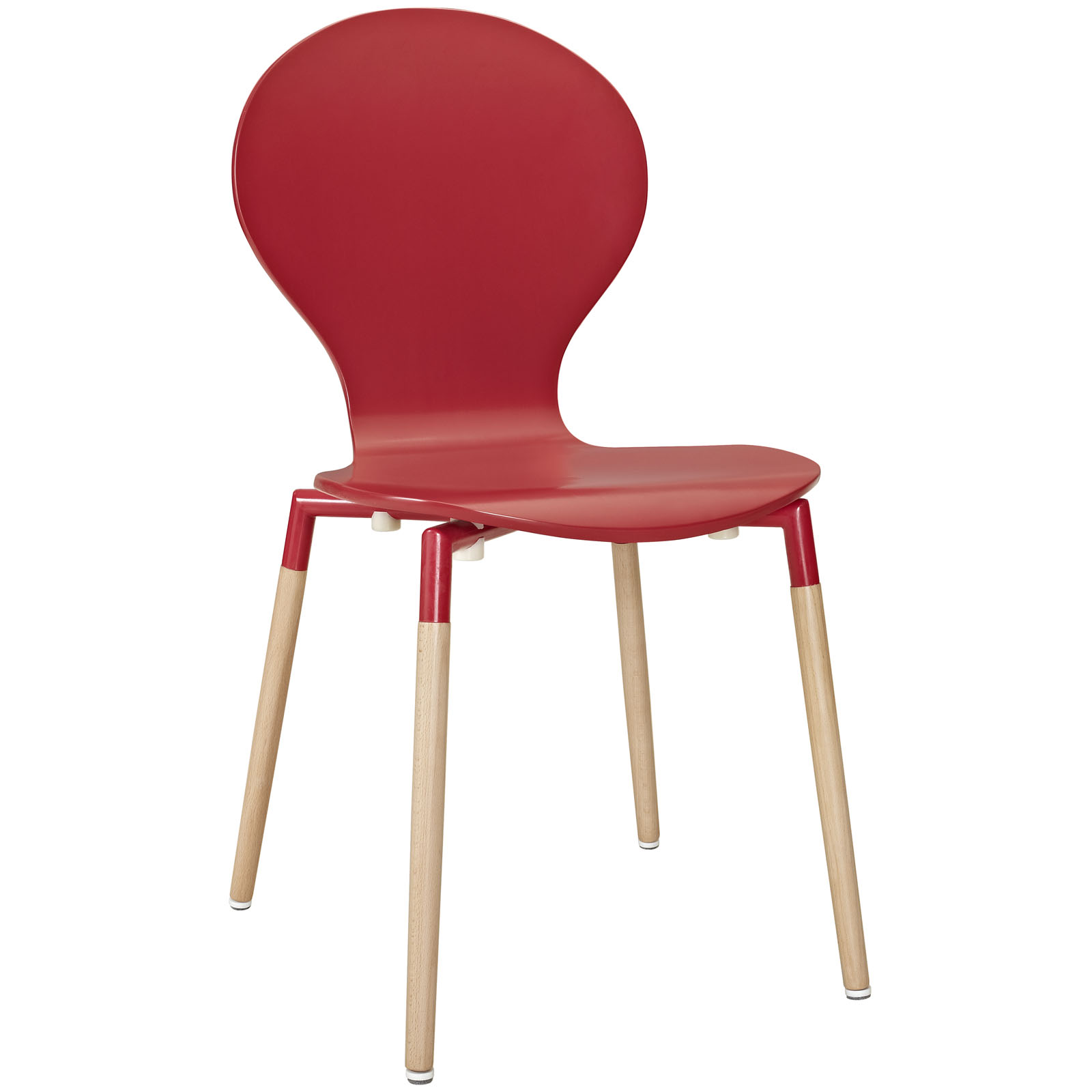 Path Dining Wood Side Chair Red EEI-1053-RED