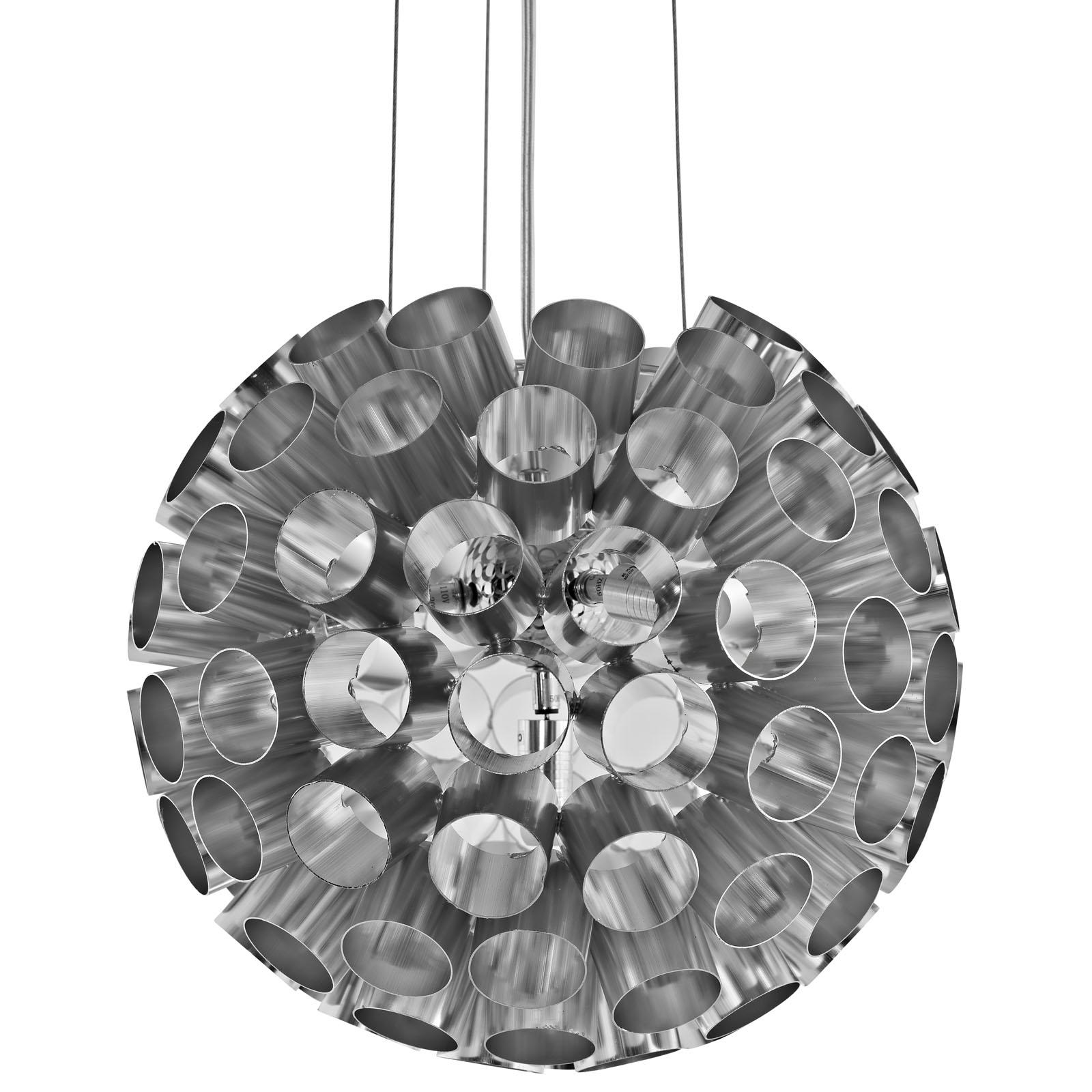Pierce Aluminum Chandelier Silver EEI-1239-SLV