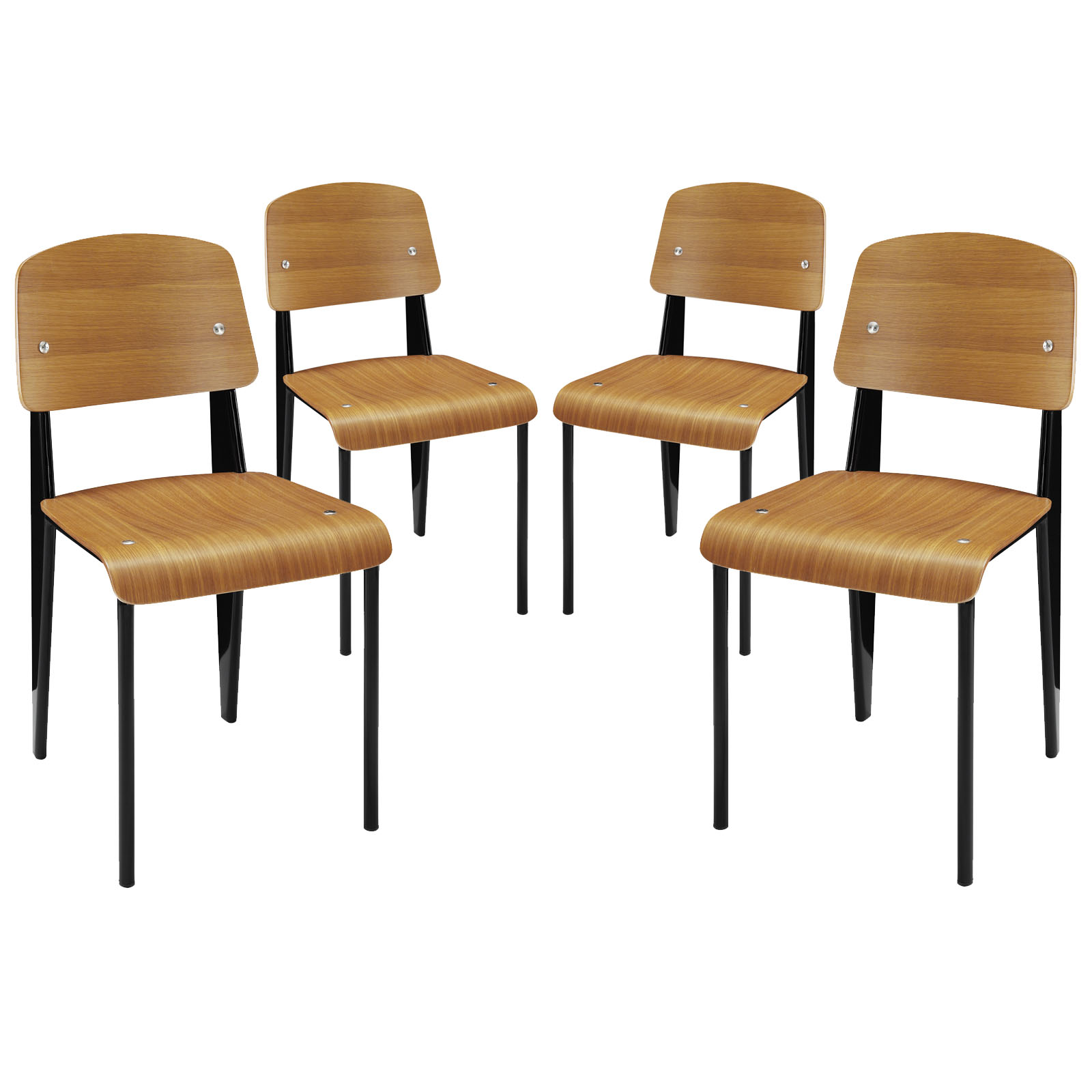 Cabin Dining Side Chair Set of 4 Walnut EEI-1263-WAL