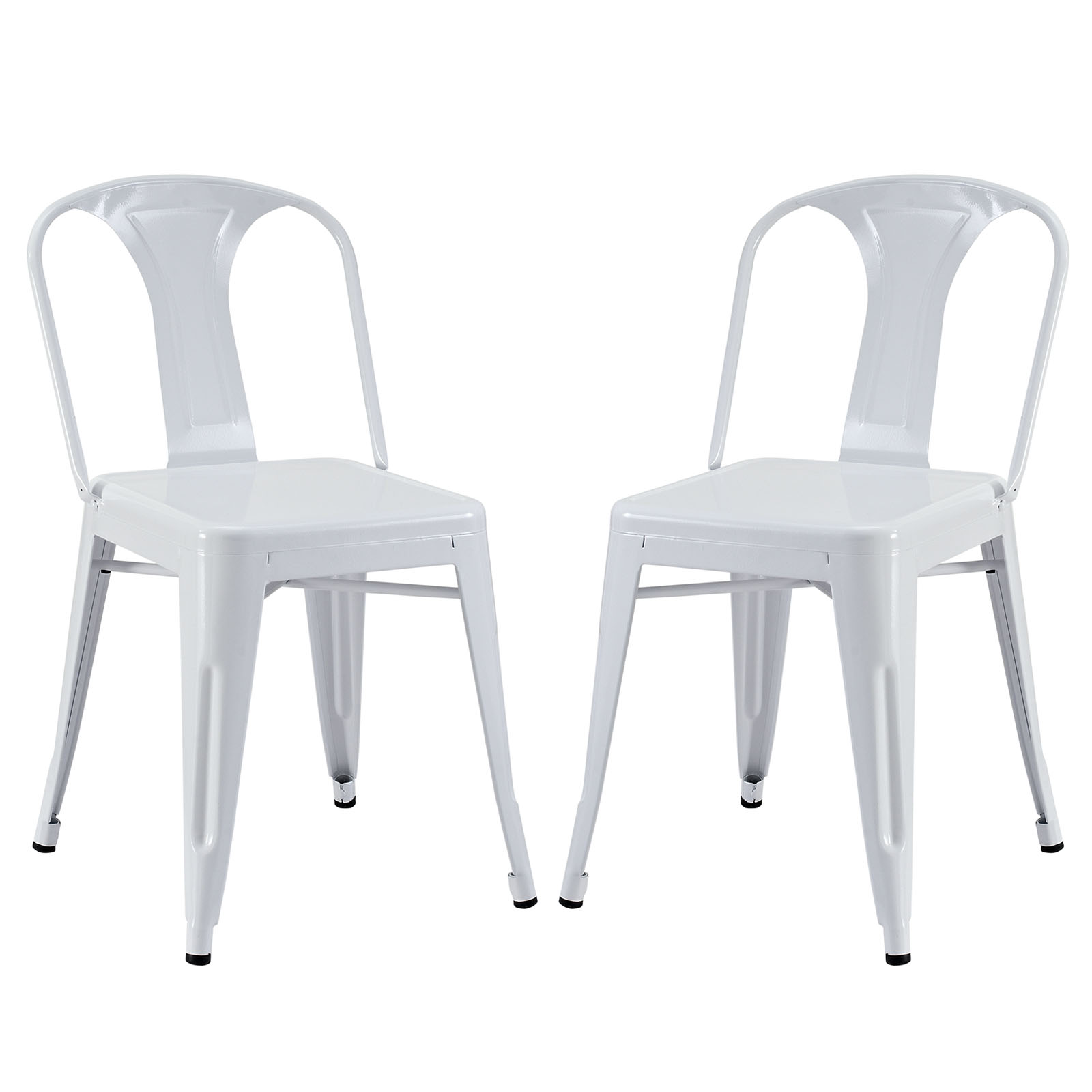 Reception Dining Side Chair Set of 2 White EEI-1301-WHI