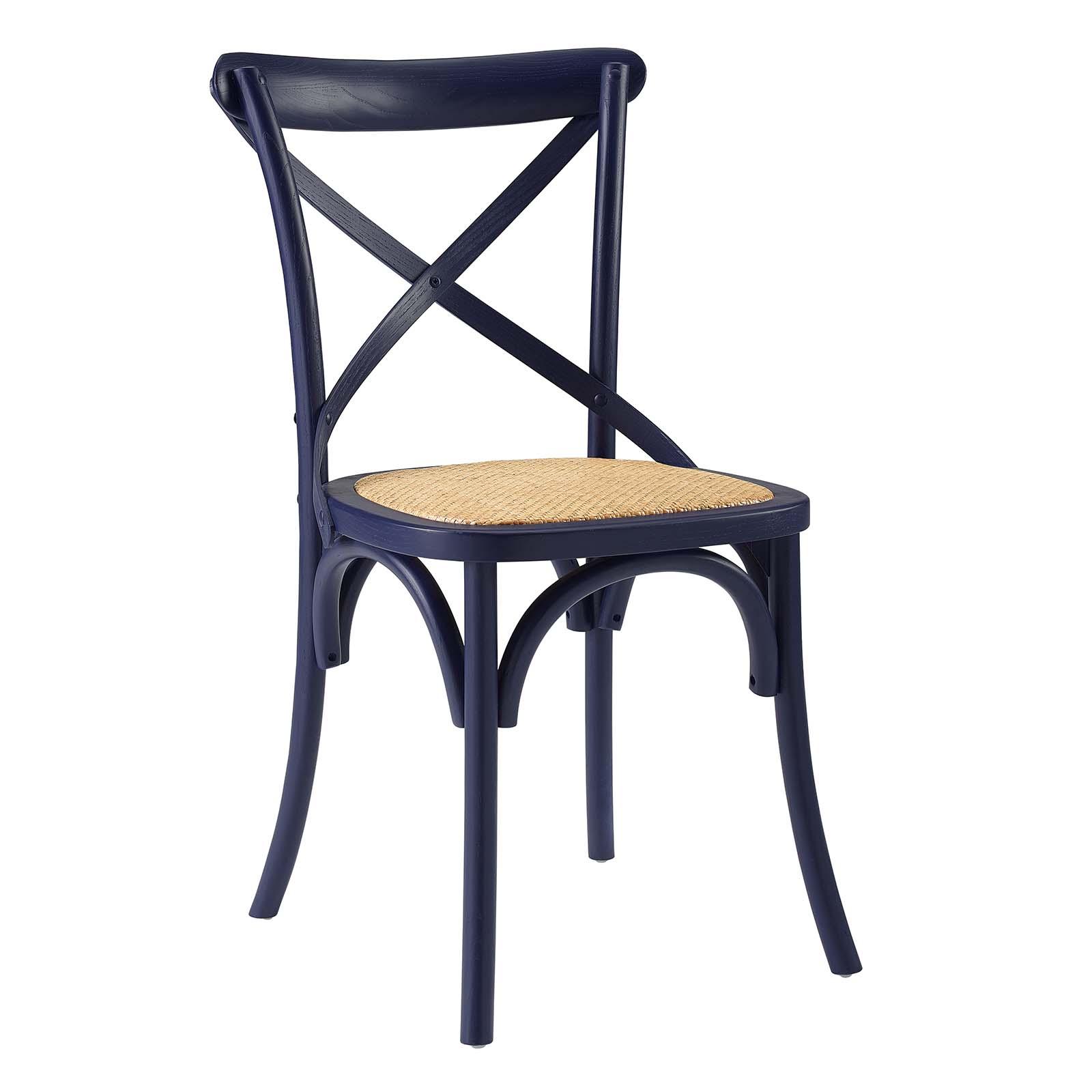 Gear Dining Side Chair Midnight Blue EEI-1541-MID