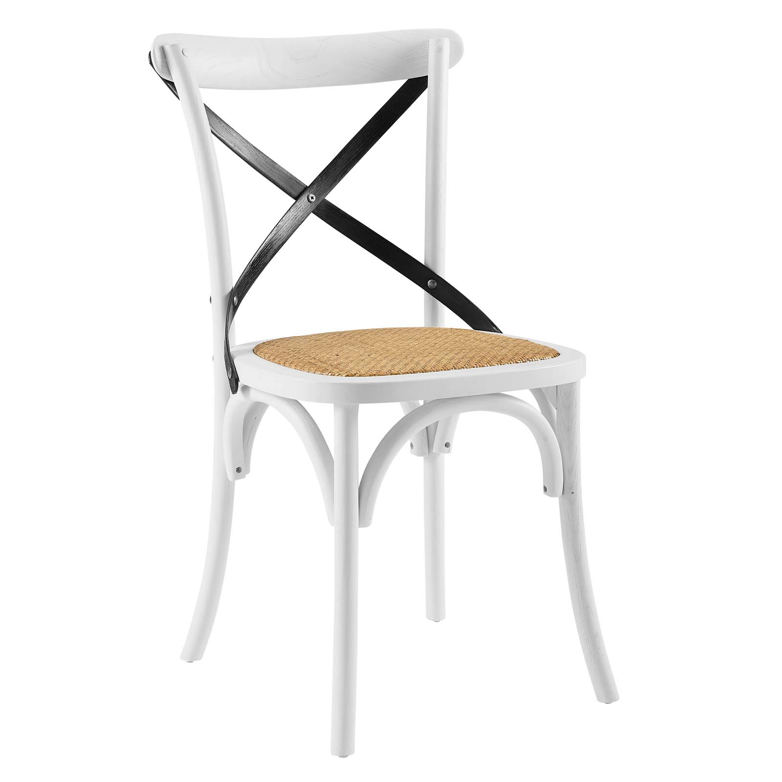 Gear Dining Side Chair White Black EEI-1541-WHI-BLK