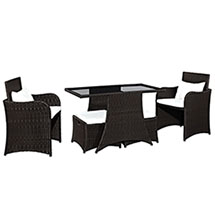 Artesia 5 Piece Outdoor Patio Dining Set