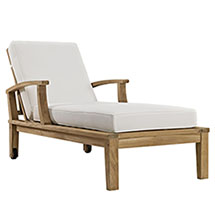 Marina Outdoor Patio Teak Single Chaise