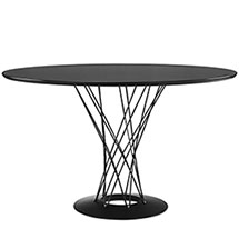 Cyclone Wood Top Dining Table