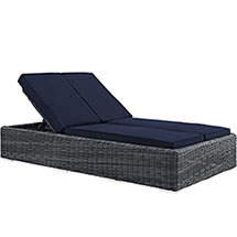 Summon Double Outdoor Patio Sunbrella® Chaise