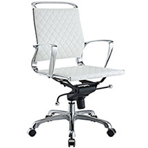 Vibe Mid Back Leather Office Chair