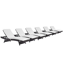 Convene Chaise Outdoor Patio Set of 6