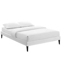 Sharon Full Vinyl Bed Frame with Squared Tapered Legs