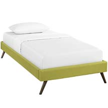 Helen Twin Fabric Bed Frame with Round Splayed Legs