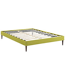 Sherry Queen Fabric Bed Frame with Round Tapered Legs