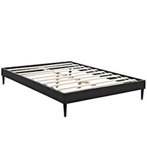 Sherry King Vinyl Bed Frame with Round Tapered Legs